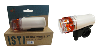 LED bicycle headlight with sidelight function