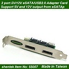 2 port Power eSATAp / USB2.0(Power Over eSATA, eSATA/USB) Adapter Card supports Dual Power 5V and 12V