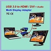 USB3.0 to HDMI/DVI Adapter, USB 3.0 Display Adapter, Graphic Adapter, USB3.0 Interface Converter