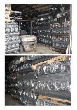 BLACK POLYESTER PVC STOCK
