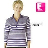 Lady polo stripe t shirt