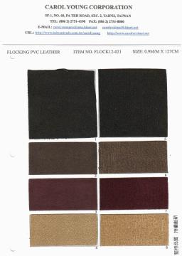 FASHION FLOCKING PVC LEATHER FOR BAGS ,SHOES USE.