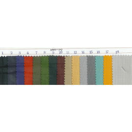 Fashion polyester/nylon fabric with backside PVC sheet laminated