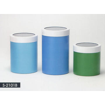 Stainless Stell Household Accessories - metal Coating Canister w/Acrylic Window Top