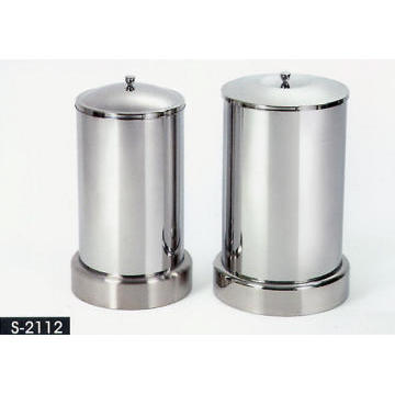 Stainless Stell Bathroom Accessories - Laumdry Basket - Set of 2 pcs