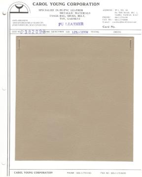 PU leather with coagulated micro fiber non woven backing for shoes, furniture and car seat cover use.