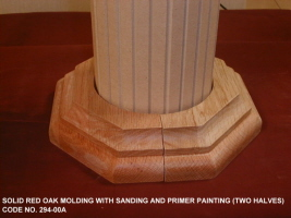 Wood Molding top and bottom for Roman column