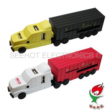 [Truck COMBO] 4 Port USB HUB & Card reader