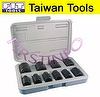 "10 PCS 1/2"" 9~27mm Cr-V sockets for wrench"