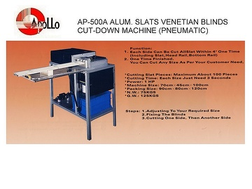 Taiwan Alum Slats Venetain Blind (Cut-Down Machine Pneumatic) Manufacturer