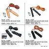 Leather jump rope in different handles