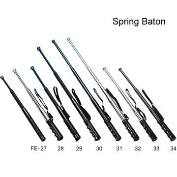 Metal 3 section spring baton