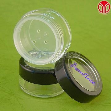 Cosmetic Packaging with sifter and window lid