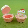 Cup-cake shaped lip gloss
