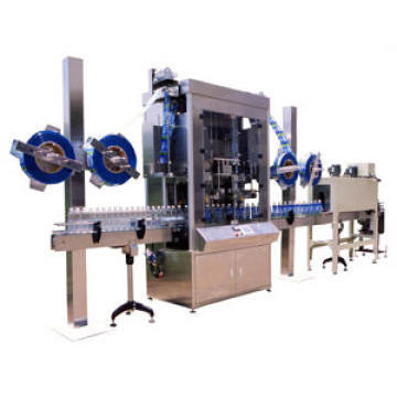 Automatic Shrink label inserting machine, Sleeving machine.Shrink labeller, shrink sleeve applicator